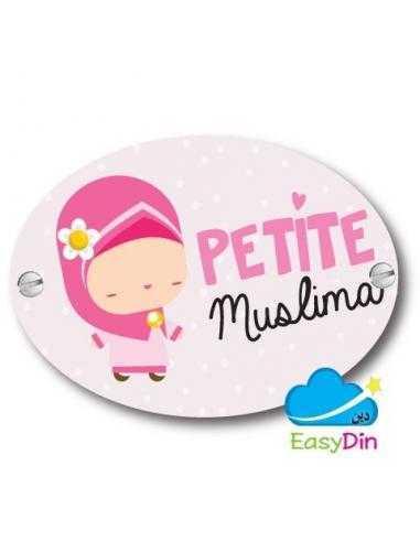 """Plaque de porte """"petite muslima"""""""