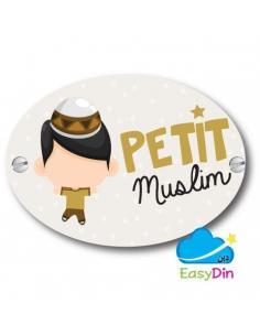 """Plaque de porte """"Petit muslim"""""""
