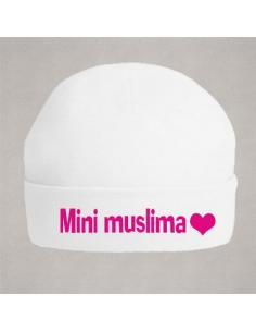 Bonnet blanc mini muslima