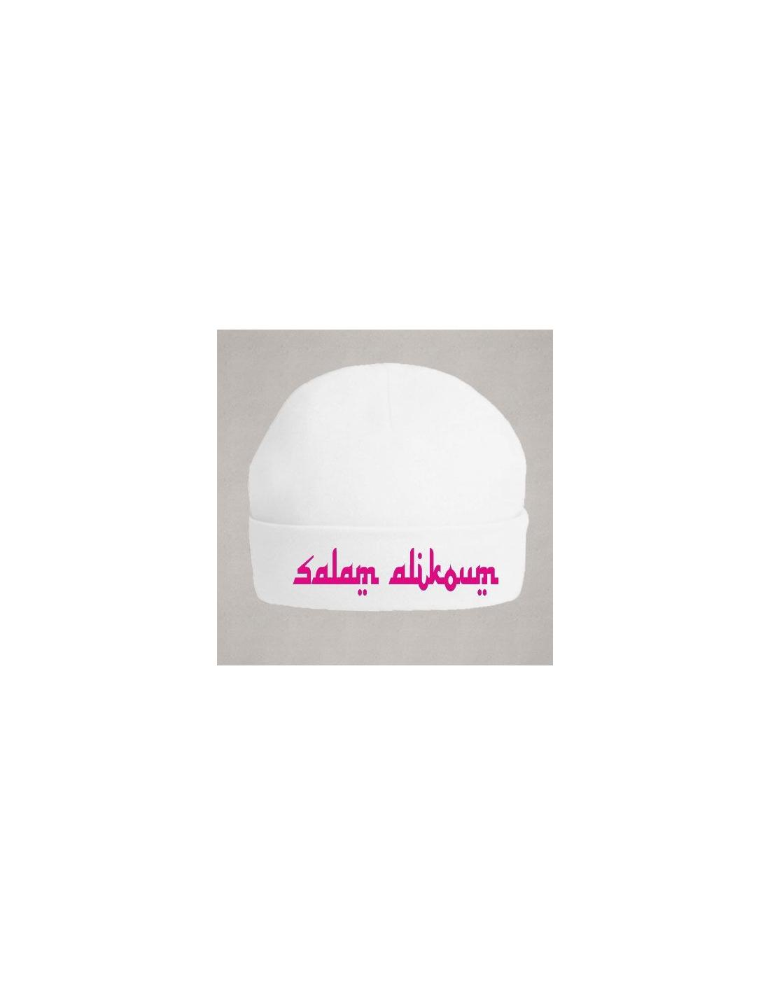 Bonnet maternité salam alikoum rose