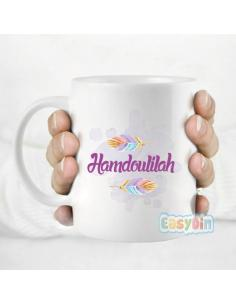 "Mug ""hamdoulilah"" personnalisable"