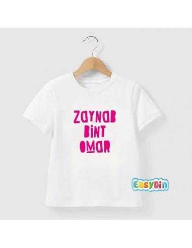"Tee shirt enfant ""bint /fille de"""