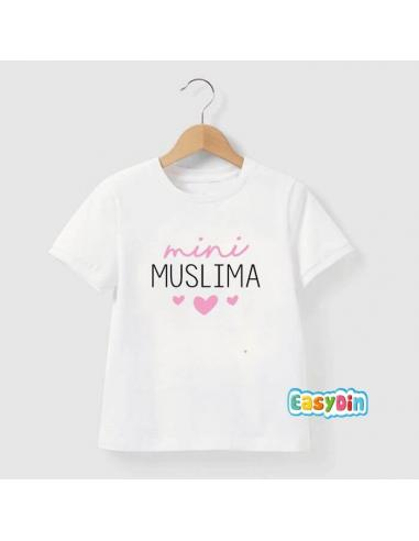 tee shirt enfant mini muslima personnalisation sans taille. Black Bedroom Furniture Sets. Home Design Ideas