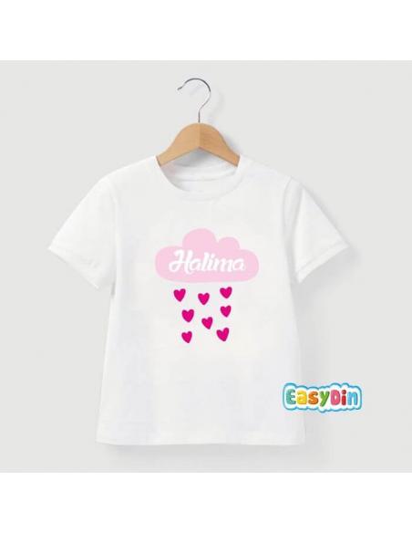 Tee shirt personnalisé nuage coeur