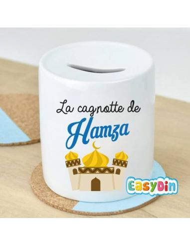 """Tirelire """"Mosquée"""" personnalisable garçon"""