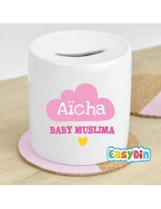 "Tirelire personnalisée ""Baby Muslima"""