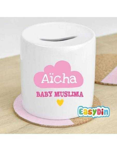Tirelire personnalisée fille bébé musulman