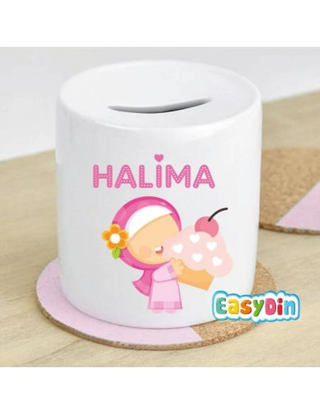 "Tirelire ""Muslima Gourmande"" cadeau enfant musulman"