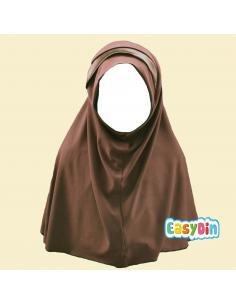 Hijab Enfant Marron