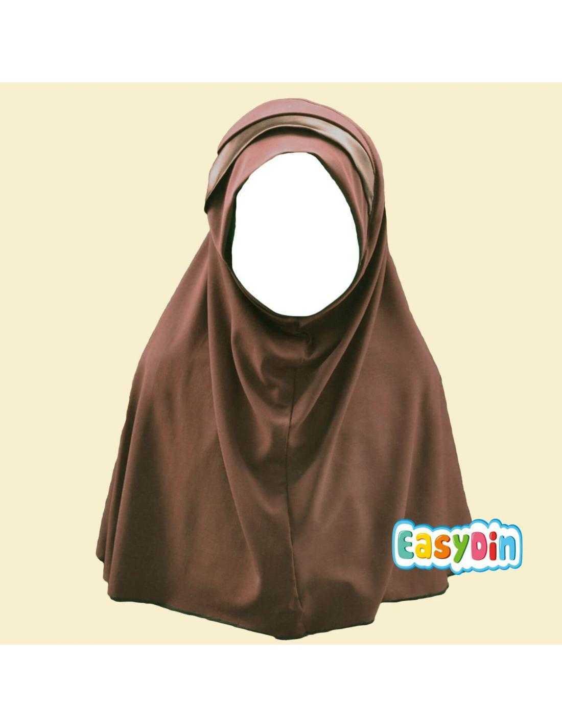 Hijab Enfant Marron