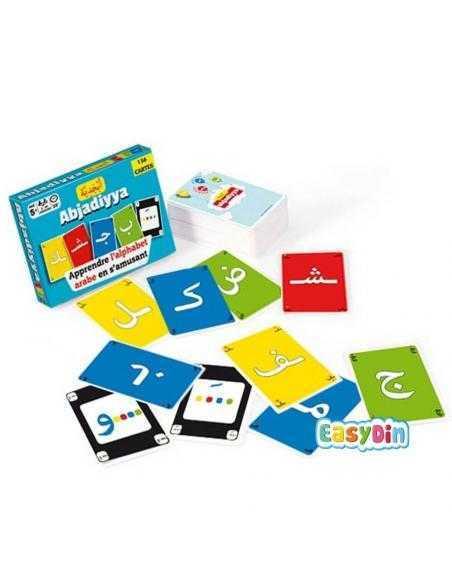 Jeu de cartes - Apprendre l'alphabet arabe