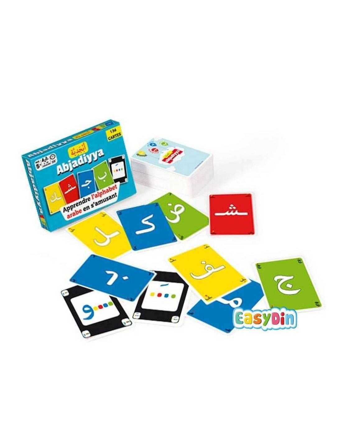 jeu de carte musulman alphabet arabe