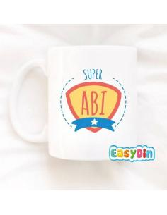 "Mug personnalisable ""Super abi"""