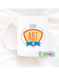 "Mug personnalisable ""Super abi"""