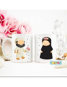 """Mug duo """"abou et oum"""" couple en islam"""