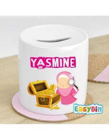 Yasmine Tirelire Petite Muslima trésor