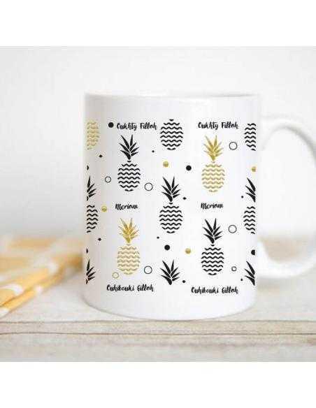 Mug oriental personnalisable ananas