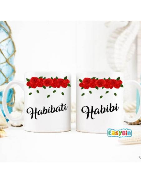 """Mug duo """"Habibi/Habibati"""""""