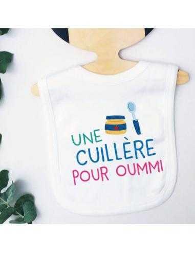 """Bavoir pour bébé """"Une cuillère pour oummi"""""""