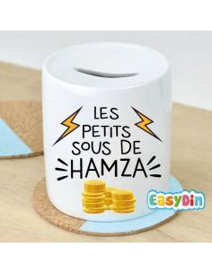 """Tirelire personnalisée """"les petits sous de"""""""