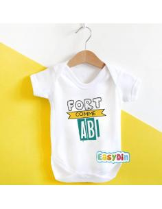 """Body bébé """"Fort comme abi"""""""
