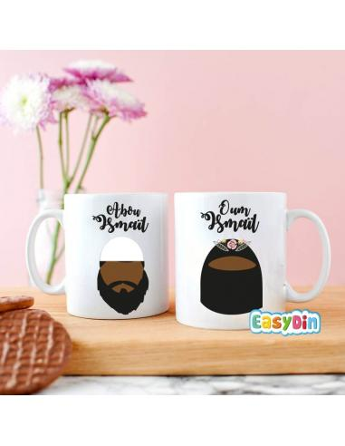 "Cadeau mariage musulman Mug duo kounya ""abou et oum"""