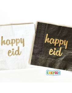 "Serviette en papier ""Happy Eid"""