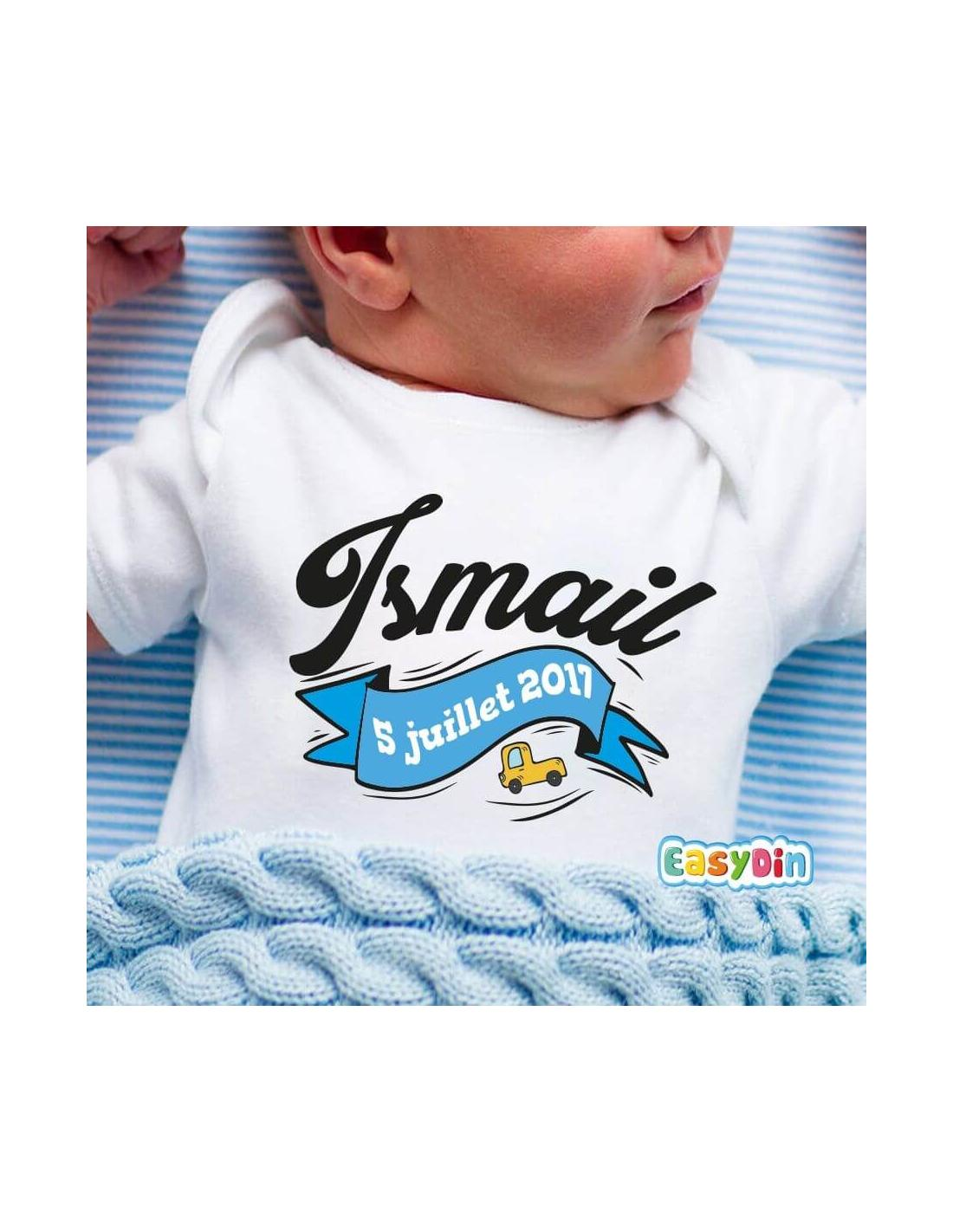 Body bébé personnalisé date de naissance