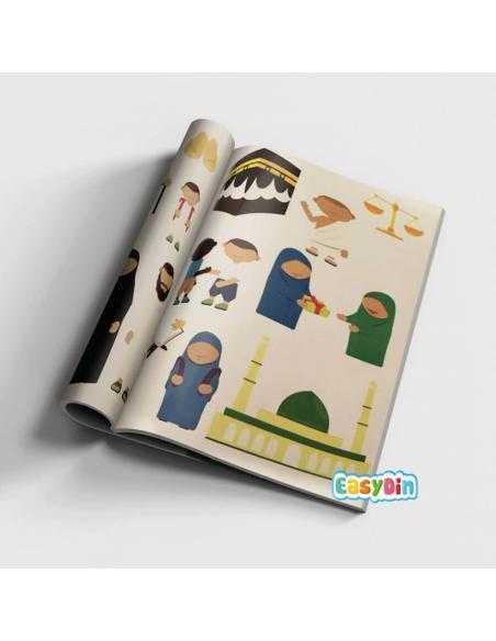 """Livre """"Les autocollants du petit muslim"""""""