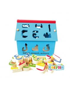 Maison en bois alphabet  (lettres Arabe)