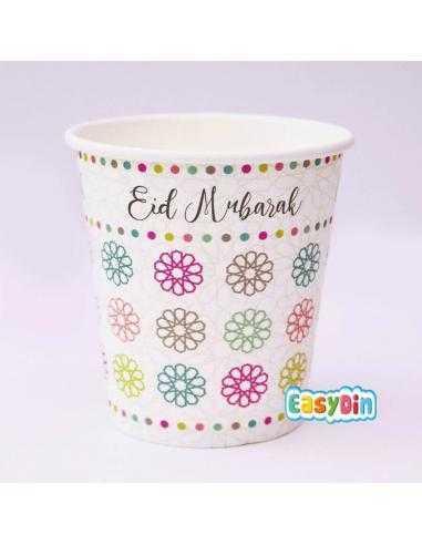 Gobelets carton Eid mubarak x5