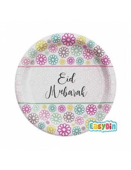 Assiette plate  EID mubarek