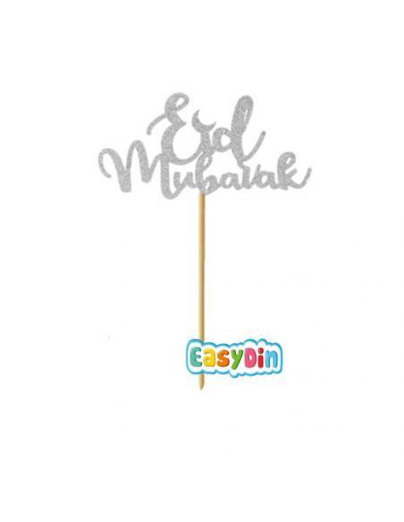 Décoration gateau  Eid Mubarak - pique