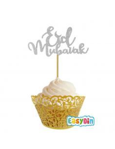 Piques à gâteau Eid Mubarak - Décoration X5