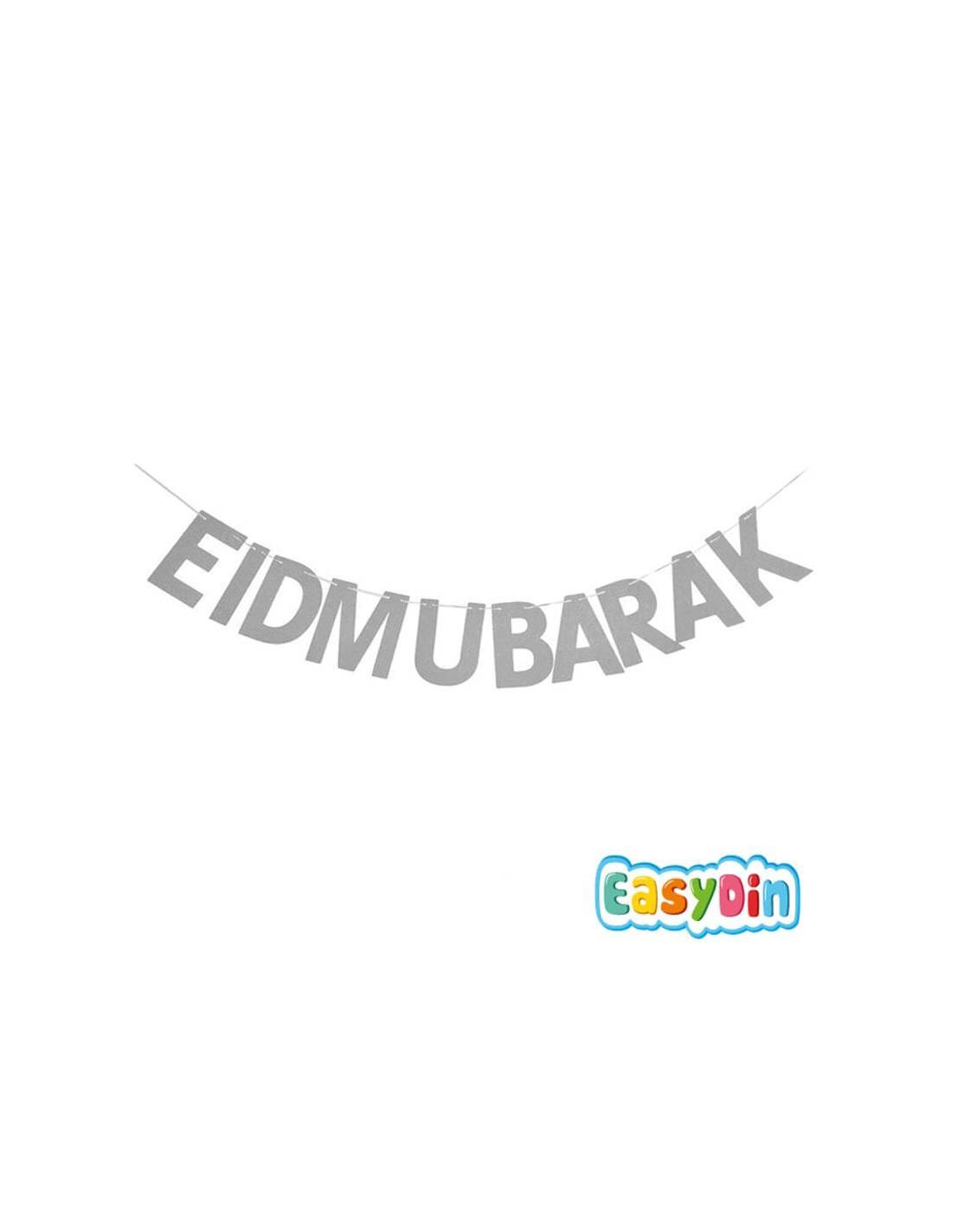 Guirlande EID MUBARAK argentée