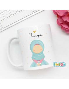 Mug personnalisé hijab enfant