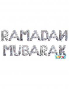 Ramadan Mubarak Ballon Lettres