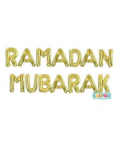 guirlande ramadan mubarak ballon