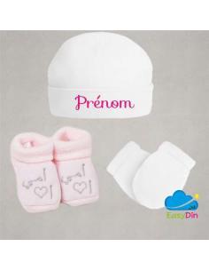 Kit accessoires de naissance musulmane personnalisé