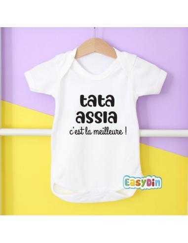 Body pour bébé personnalisable tata