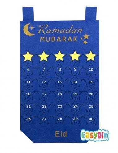 Calendrier pour enfant ramadan moubarak