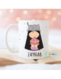 Mug soeur et chat islamique cadeau