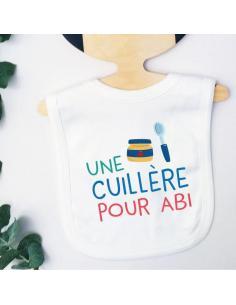 Bavoir pour bébé Une cuillère pour abi