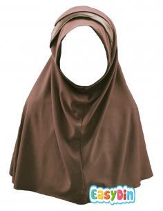 Hijab marron pour enfant pas cher