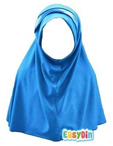 Hijab bleu électrique fille