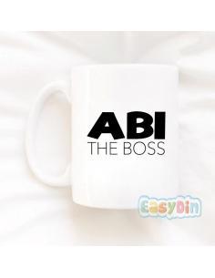 """Mug """"Abi The Boss"""""""