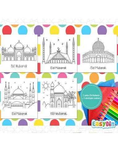 Coloriage musulman mosquée aid