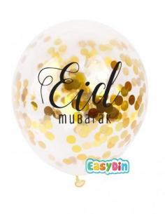 Ballon confetti eid mubarak