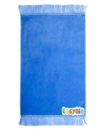 Tapis de prière uni bleu