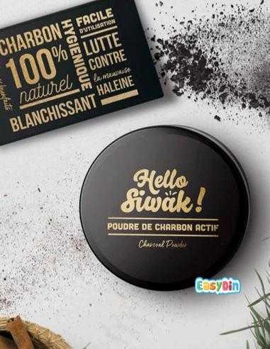 Poudre De Charbon Actif - Hello Siwak - 30gr